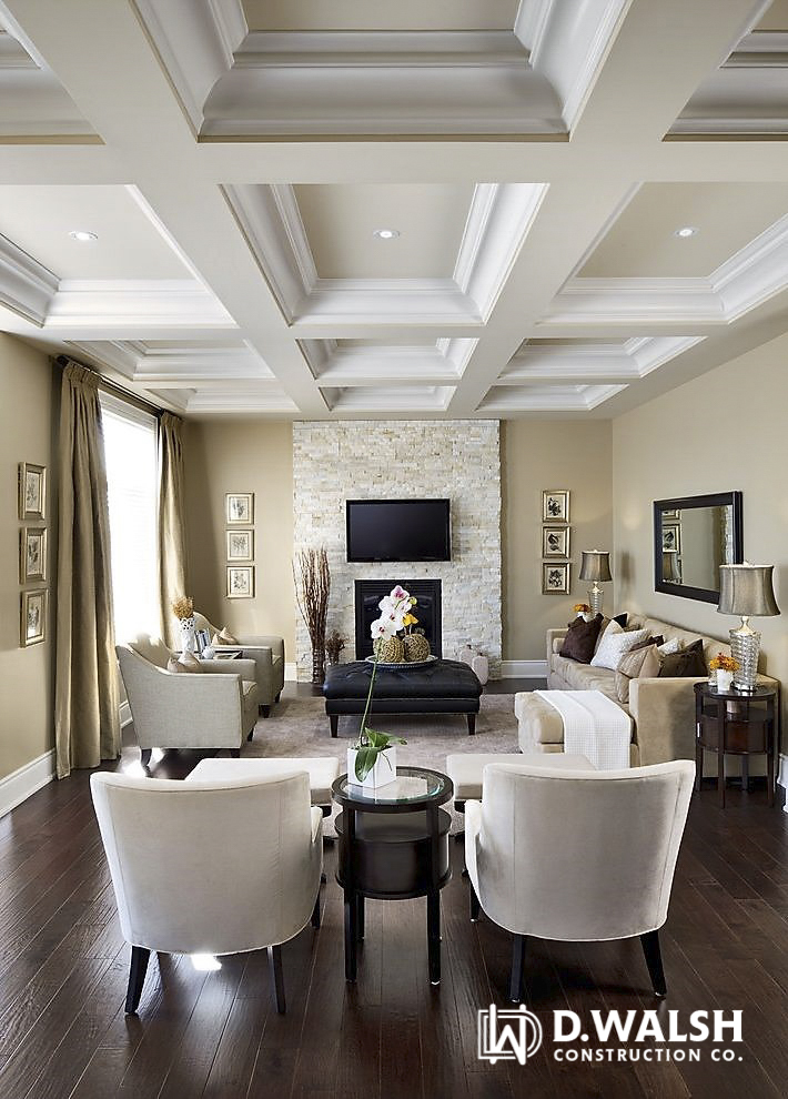 D Walsh Living Area and Fireplace