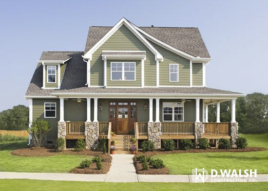 D Walsh Exterior Craftsman Style Wrap-Around Porch