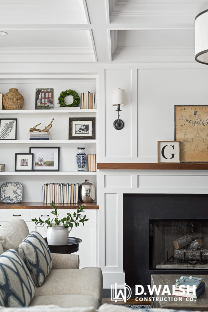 D Walsh Interior and Fireplace