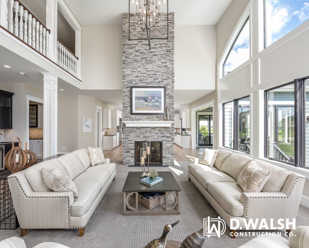 D Walsh Living Area and Stone Fireplace