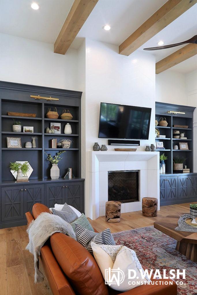 Trout Grey Bookshelves Built-Ins